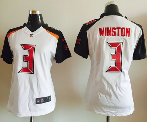 Nike Buccaneers #3 Jameis Winston White Women's Stitched NFL New Elite Jersey