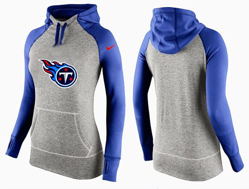 Women's Nike Tennessee Titans Performance Hoodie Grey & Blue_2