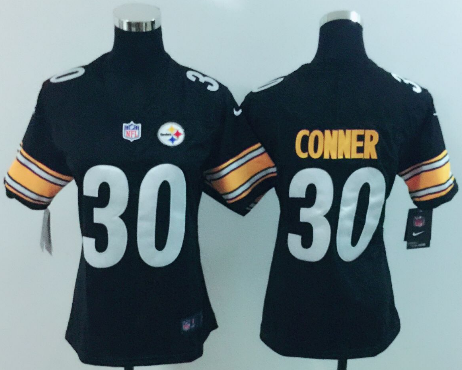 Women's Nike Pittsburgh Steelers #30 James Conner Black Vapor Untouchable Limited Stitched NFL Jersey