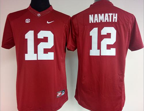 Crimson Tide #12 Joe Namath Red Women's Stitched NCAA Jersey
