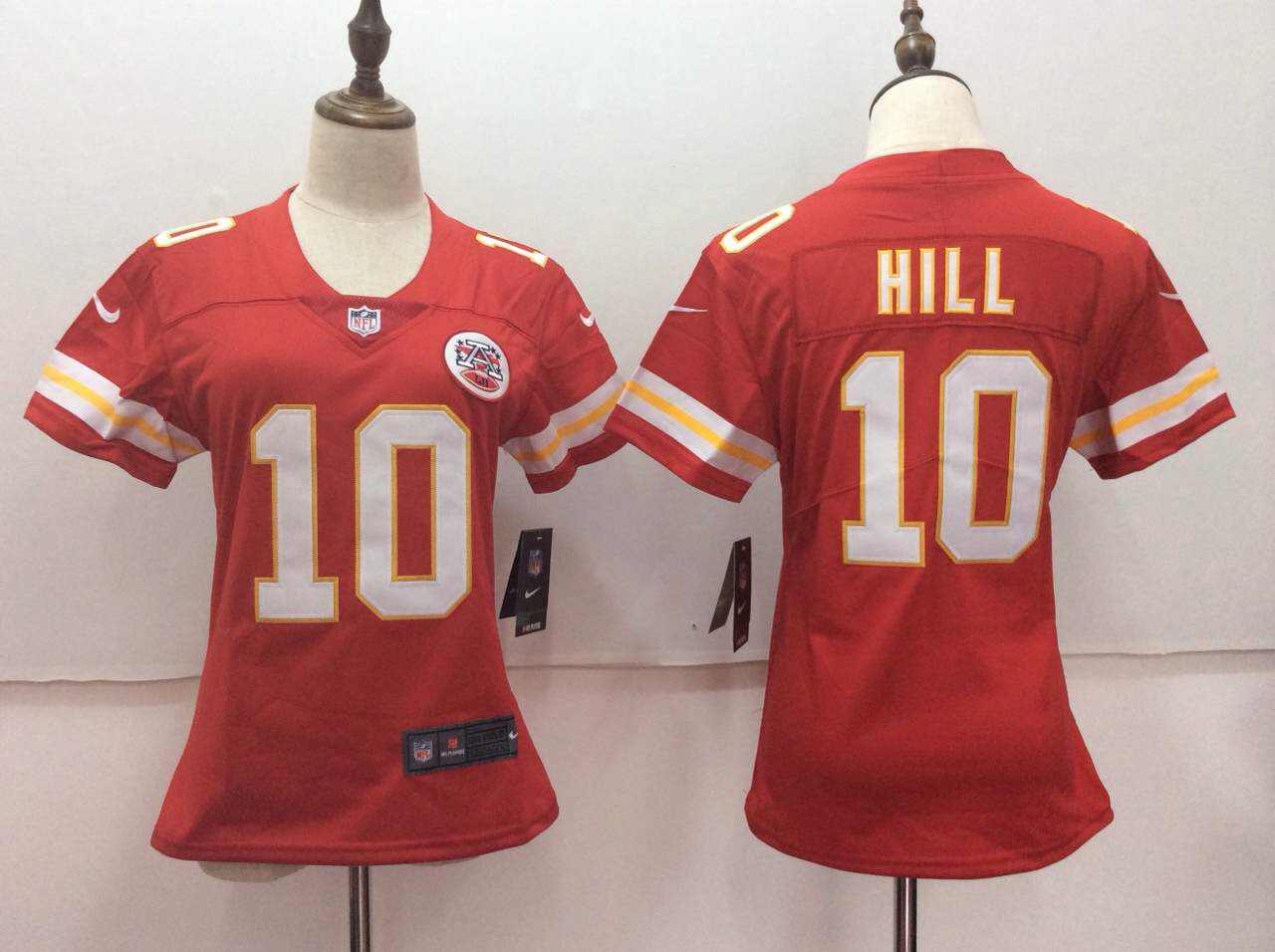 Women's Nike Kansas City Chiefs #10 Tyreek Hill Red Untouchable Limited Stitched NFL Jersey