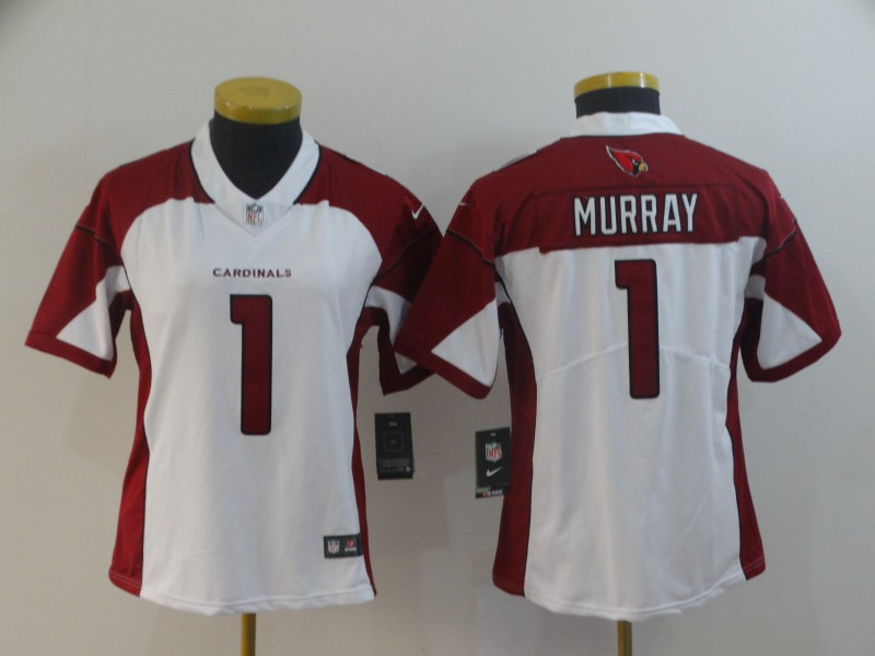 Women's Arizona Cardinals #1 Kyler Murray White Vapor Untouchable Limited Stitched NFL Jersey(Run Small)