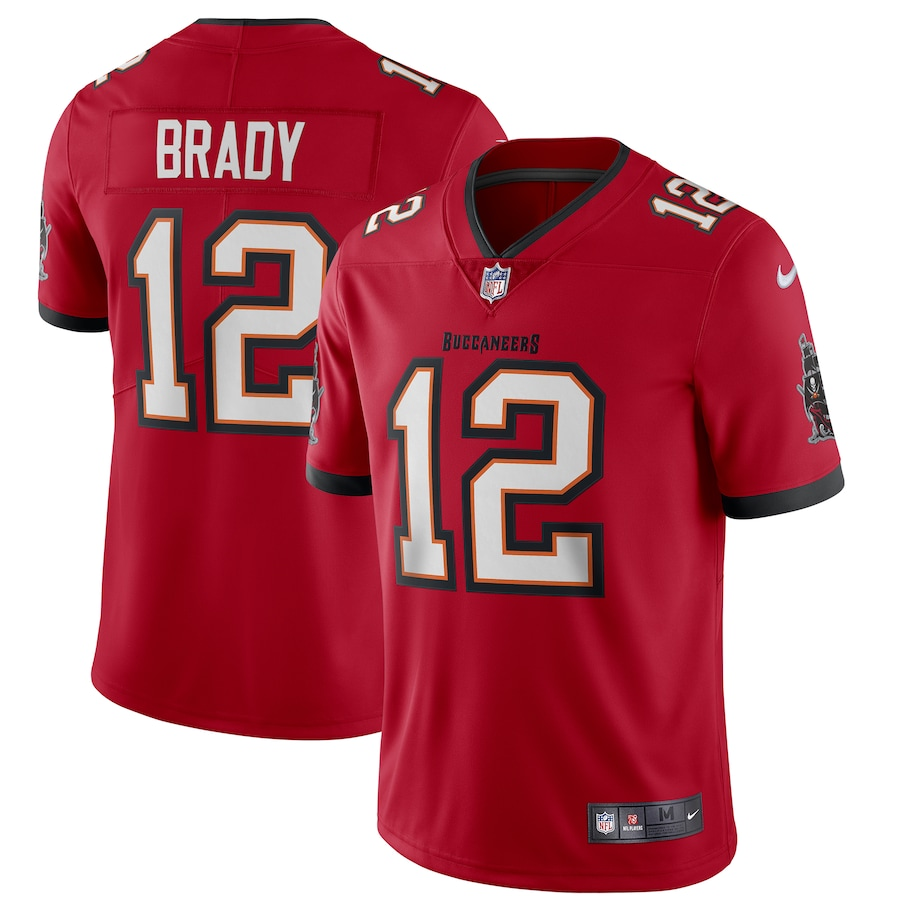 Toddlers Tampa Bay Buccaneers #12 Tom Brady 2020 Red Vapor Untouchable Limited Stitched Jersey