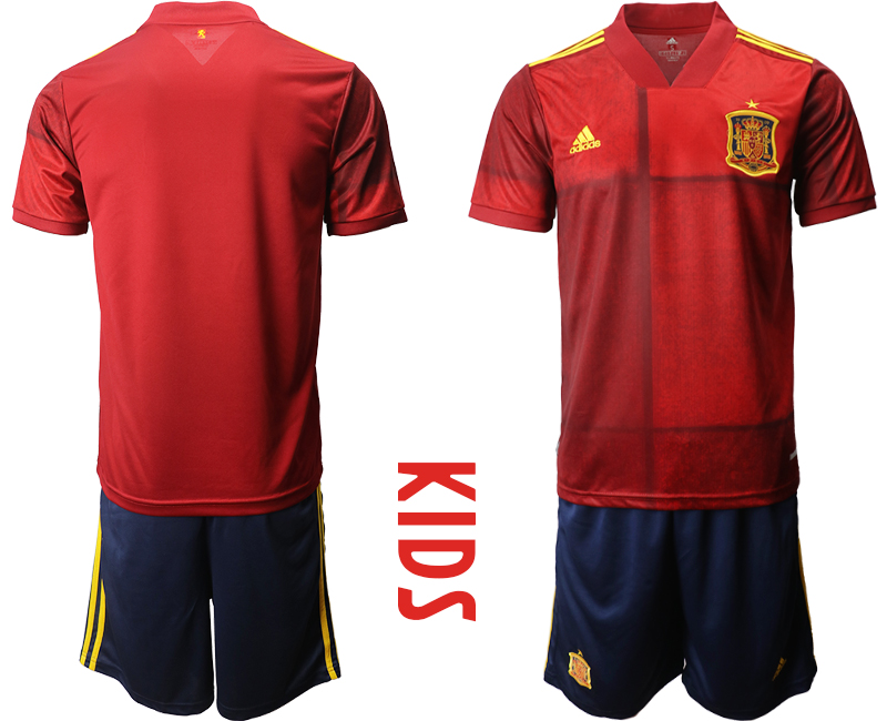 Spain Blank Home Kid Soccer Country Jersey