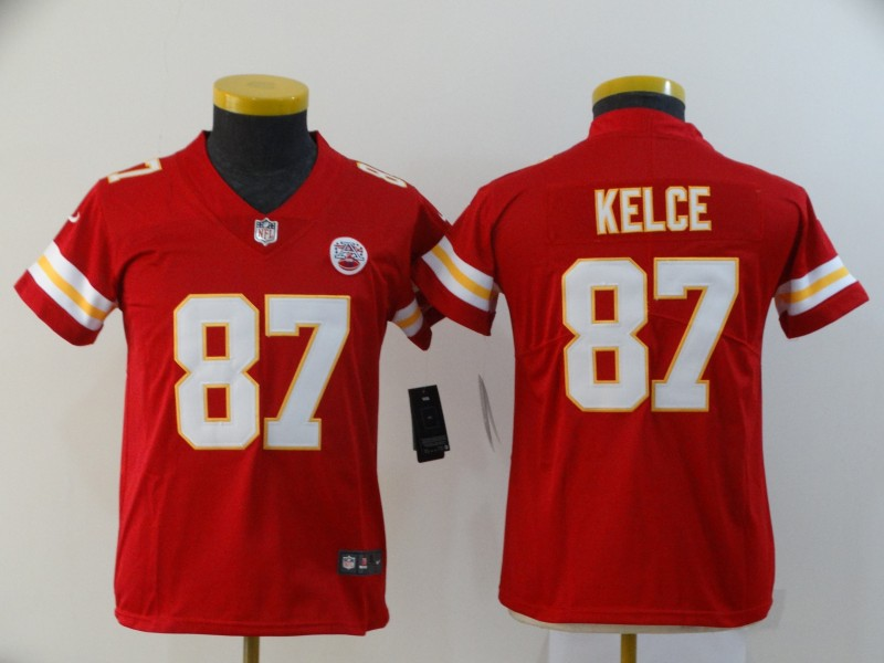 Youth Kansas City Chiefs #87 Travis Kelce Red Vapor Untouchable Limited Stitched NFL Jersey