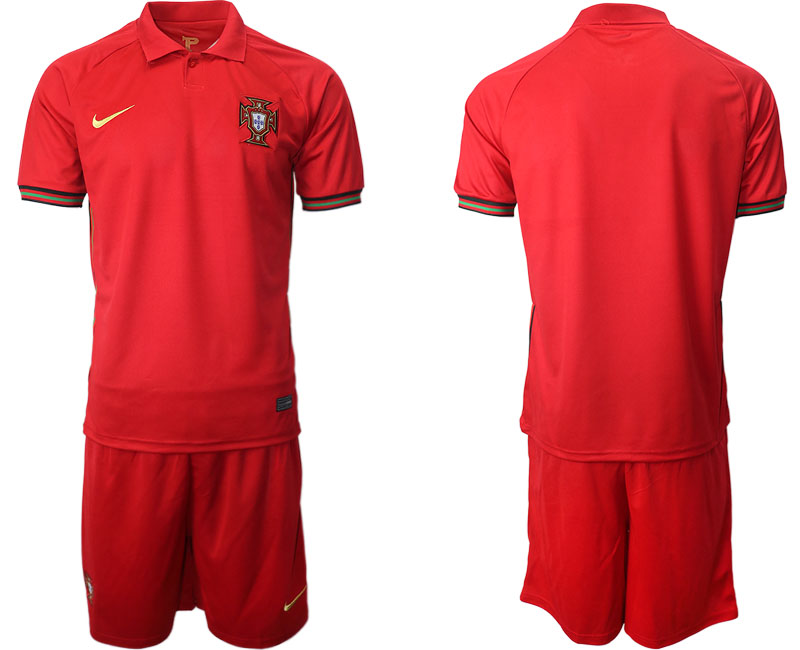 Portugal Blank Home Kid Soccer Country Jersey