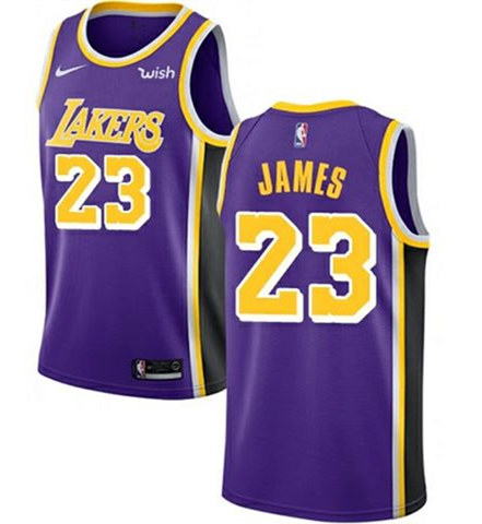 Youth Los Angeles Lakers #23 LeBron James Purple Stitched NBA Jersey