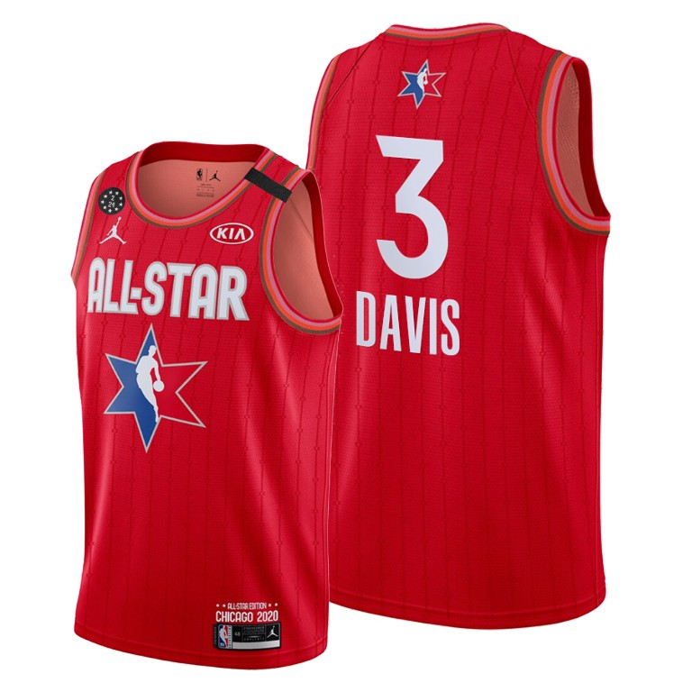 Youth Los Angeles Lakers #3 Anthony Davis Red 2020 All-Star Stitched NBA Jersey