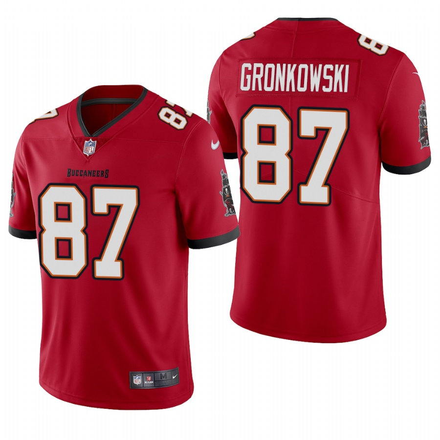 Youth Tampa Bay Buccaneers #87 Rob Gronkowski New Red Vapor Untouchable Limited Stitched Jersey