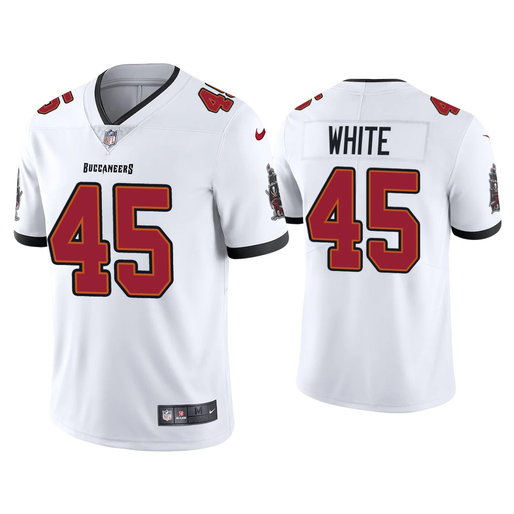 Youth Tampa Bay Buccaneers #45 Devin White New White Vapor Untouchable Limited Stitched Jersey