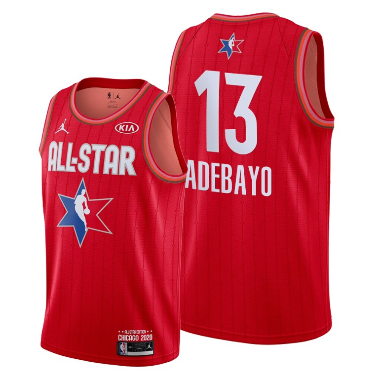 Youth Miami Heat #13 Bam Adebayo Red 2020 All-Star Stitched NBA Jersey