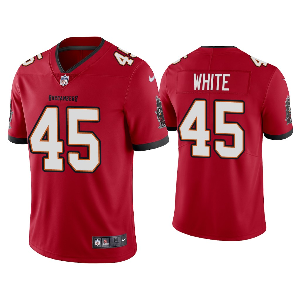 Youth Tampa Bay Buccaneers #45 Devin White New Red Vapor Untouchable Limited Stitched Jersey