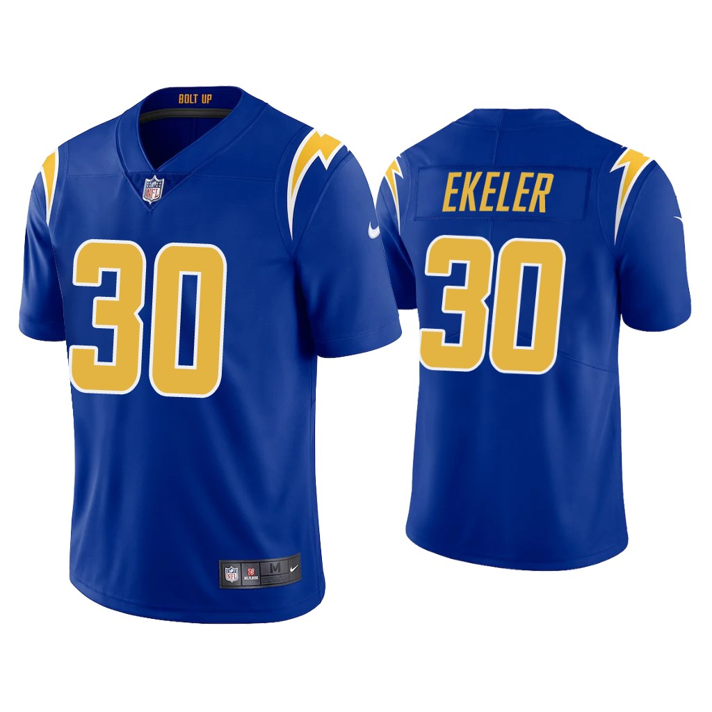 Youth Los Angeles Chargers #30 Austin Ekeler 2020 Royal Vapor Untouchable Limited Stitched Jersey