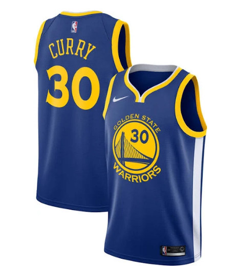 Youth Golden State Warriors #30 Stephen Curry Blue Stitched NBA Jersey