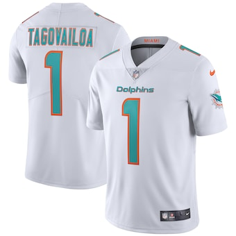 Youth Miami Dolphins #1 Tua Tagovailoa White Vapor Untouchable Limited Stitched Jersey