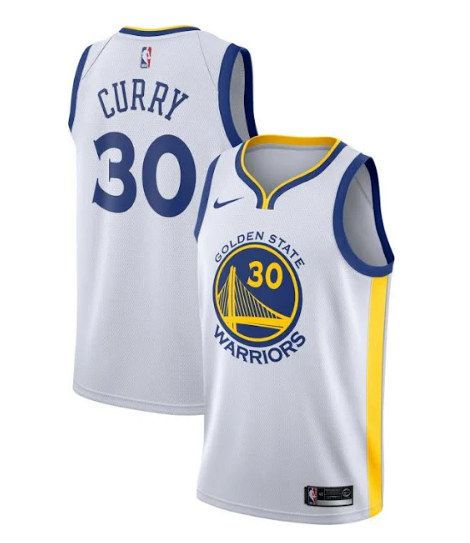 Youth Golden State Warriors #30 Stephen Curry White Stitched NBA Jersey