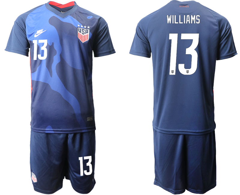 USA #13 Williams Away Kid Soccer Country Jersey