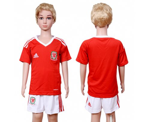 Wales Blank Home Kid Soccer Country Jersey
