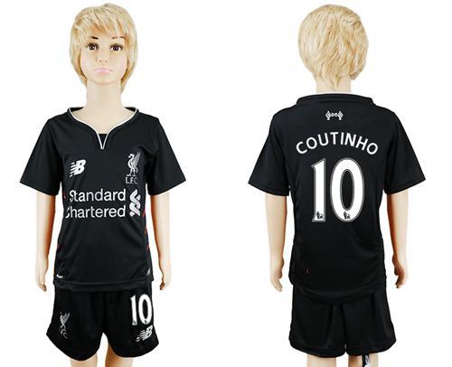 Liverpool #10 Coutinho Away Kid Soccer Club Jersey