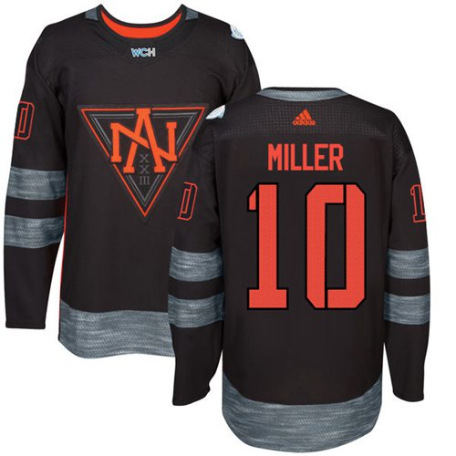 Team North America #10 J. T. Miller Black 2016 World Cup Stitched Youth NHL Jersey