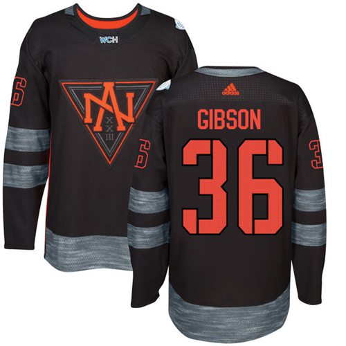 Team North America #36 John Gibson Black 2016 World Cup Stitched Youth NHL Jersey