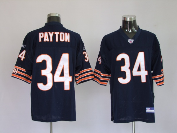 Bears #34 Walter Payton Blue Stitched Youth NFL Jersey