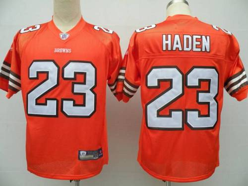 Browns #23 Joe Haden Orange Stitched Youth NFL Jersey