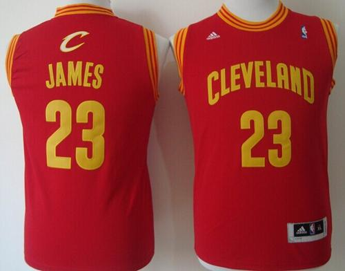 Revolution 30 Cavaliers #23 LeBron James Red Stitched Youth NBA Jersey