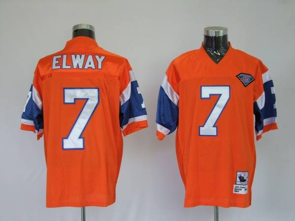 Broncos #7 John Elway Orange Stitched Youth NFL Jersey