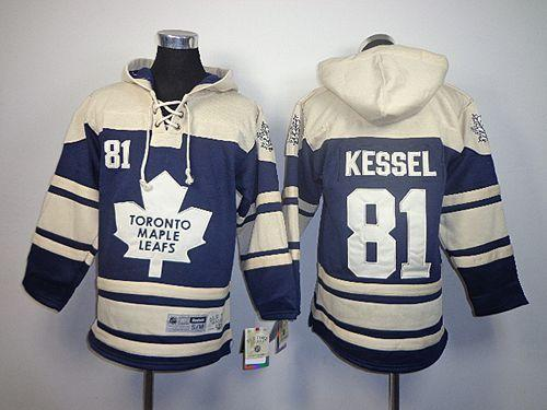 Maple Leafs #81 Phil Kessel Blue Sawyer Hooded Sweatshirt Stitched Youth NHL Jersey