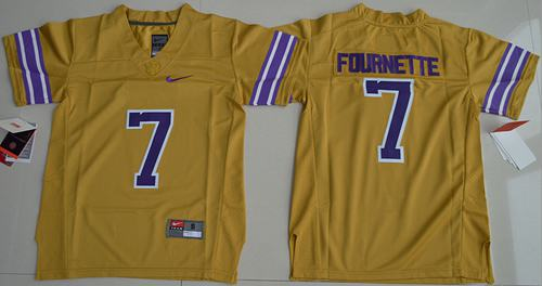 Tigers #7 Leonard Fournette Gridiron Gold Limited Legend Stitched Youth NCAA Jersey