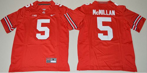 Buckeyes #5 Raekwon McMillan Red Stitched Youth NCAA Jersey