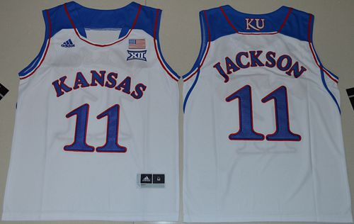 Jayhawks #11 Josh Jackson White Basketball Stitched Youth NCAA Jersey