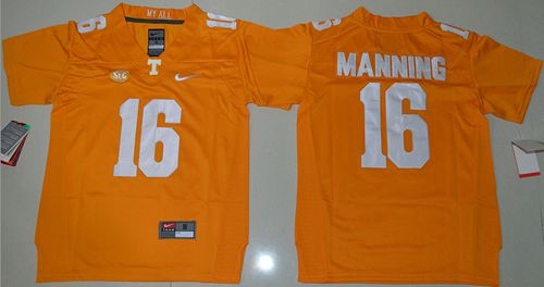 Vols #16 Peyton Manning Orange Stitched Youth NCAA Jersey