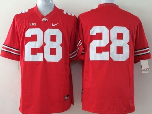Buckeyes #28 Dominic Clarke Red Stitched Youth NCAA Jersey