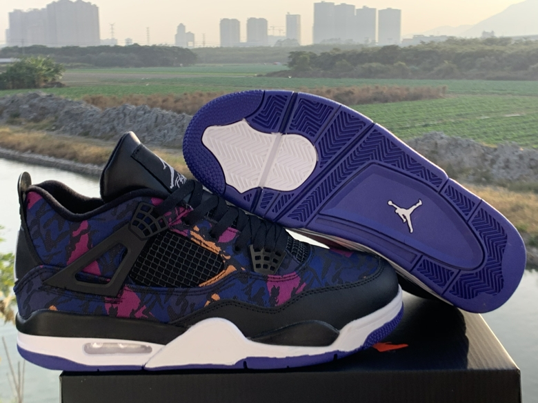 Men's Hot Sale Running weapon Air Jordan 4 Rush Violet Shoes 020