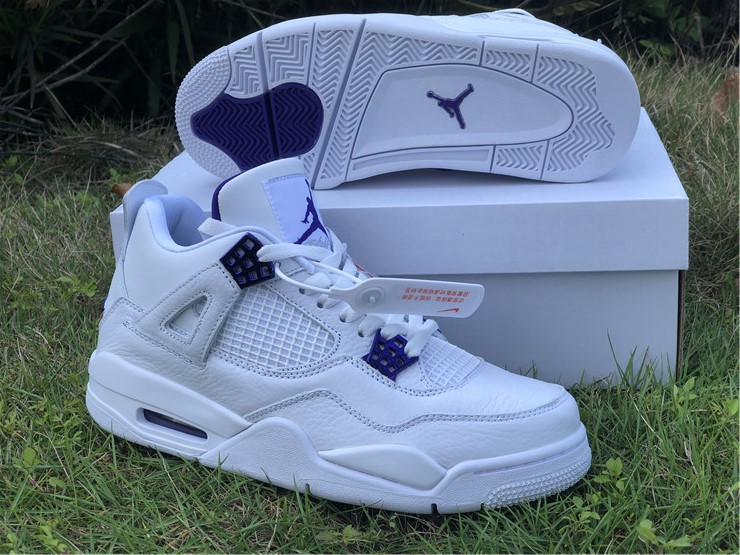 "Men's Hot Sale Running weapon Air Jordan 4 ""Purple Metallic"" Shoes 024"