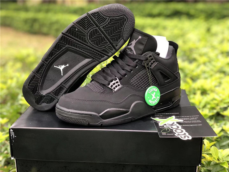 "Men's Hot Sale Running weapon Air Jordan 4 ""Black Cat"" Shoes 026"