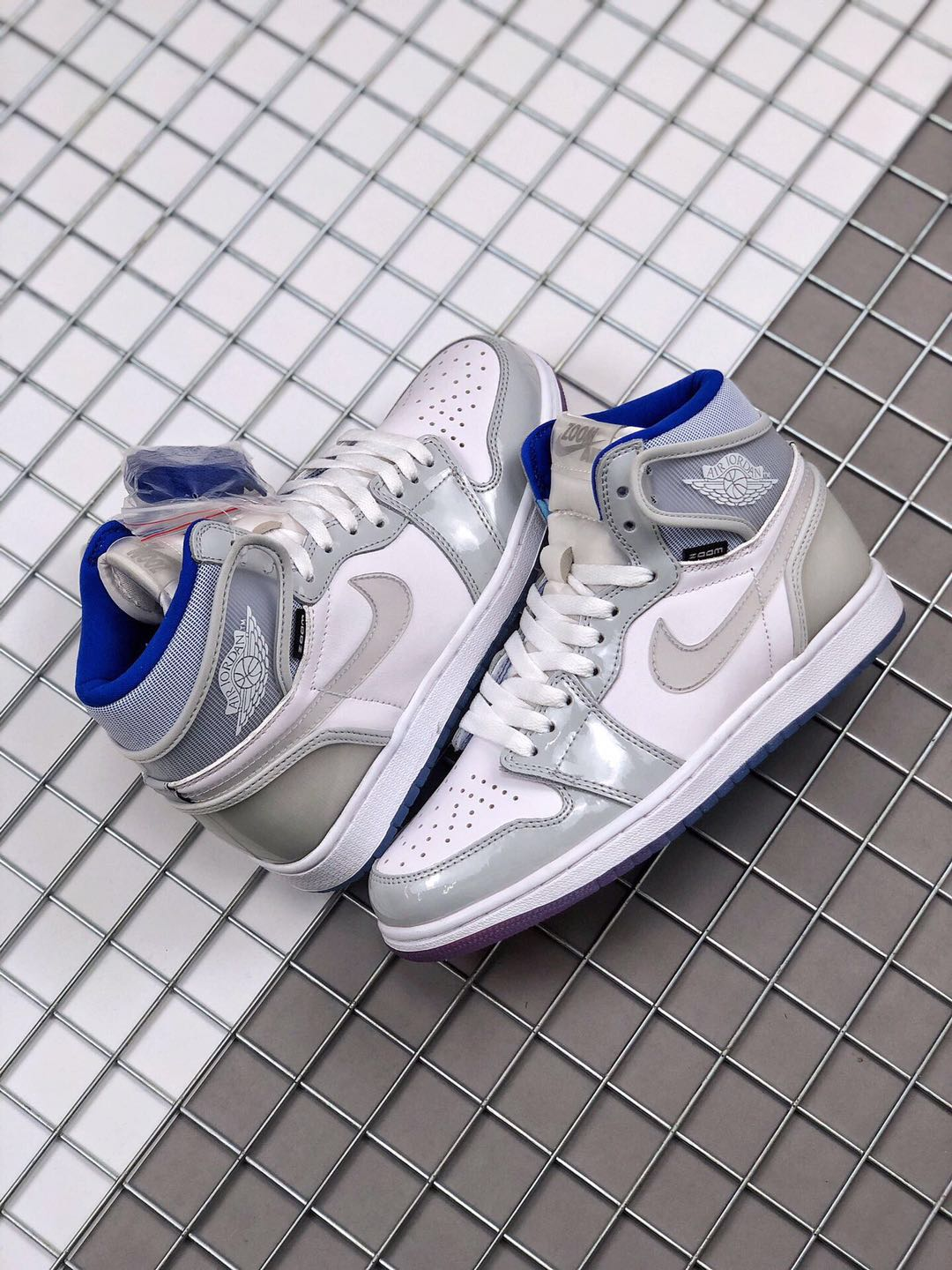 "Women's Running weapon Air Jordan 1 High Zoom R2T ""Racer Blue"" Shoes 051"