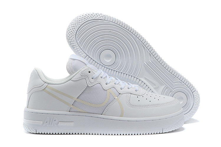 Women's Air Force 1 React White Shoes 001