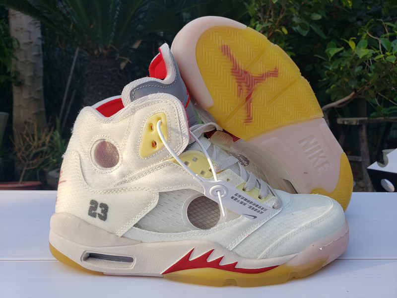 Men's Running weapon Off White X Air Jordan 5 Shoes 010