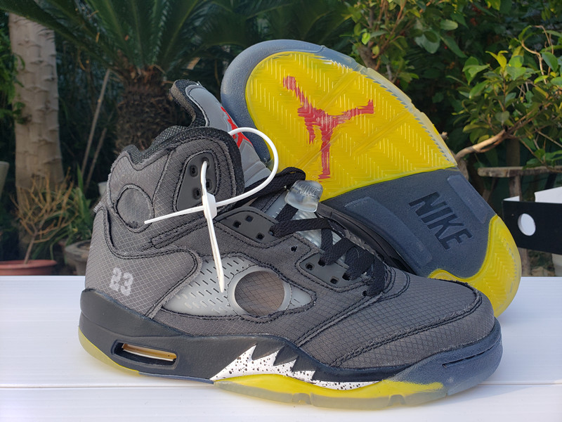 Men's Running weapon Off-White X Air Jordan 5 Shoes 011