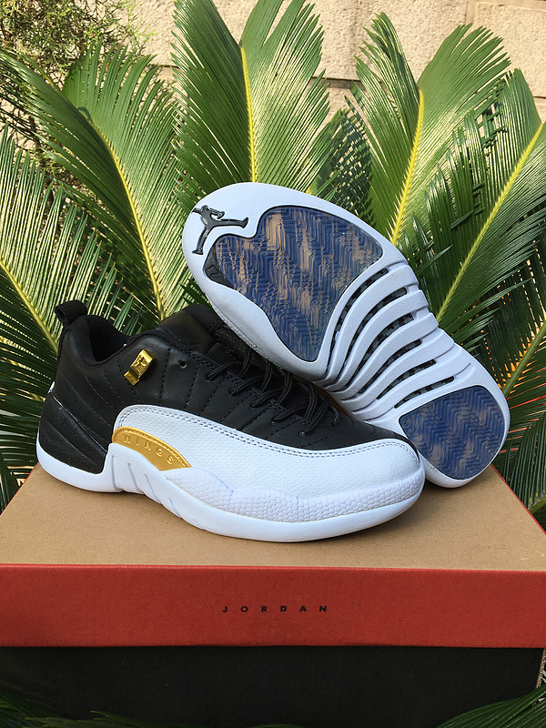 Running weapon Cheap Air Jordan 12 Shoes Retro Women Black/White
