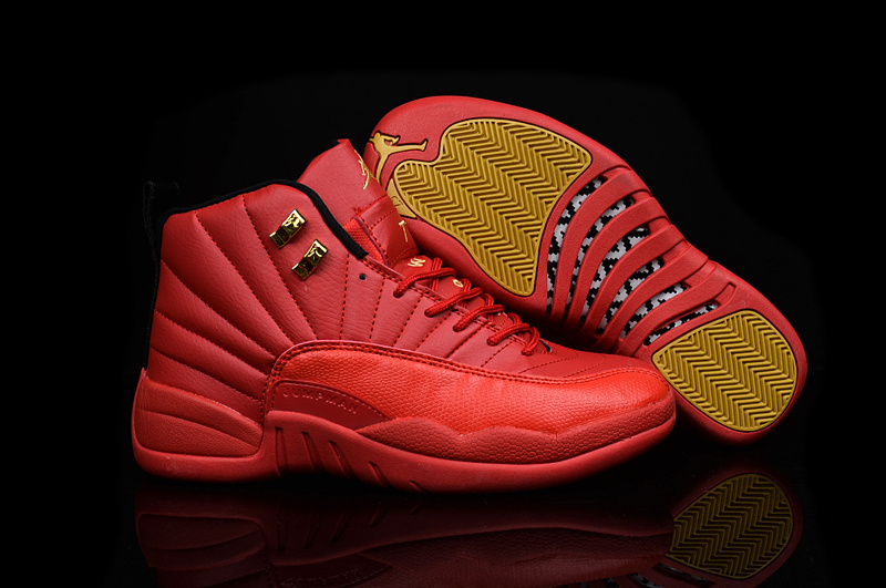 Running weapon Cheap Wholesale Air Jordan 12 Shoes Retro Red