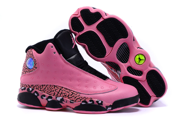 Running weapon Women Air Jordan 13 Pink/Black Shoes Retro Cheap