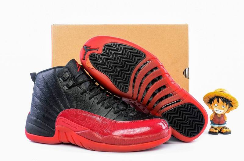 Running weapon Cheap Air Jordan 12 Shoes Retro Women Black/Red