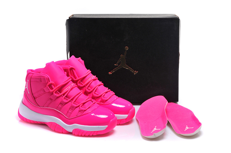 Running weapon Cheap Wholesale Nike Shoes Air Jordan 11 Retro High Hyper Pink/W