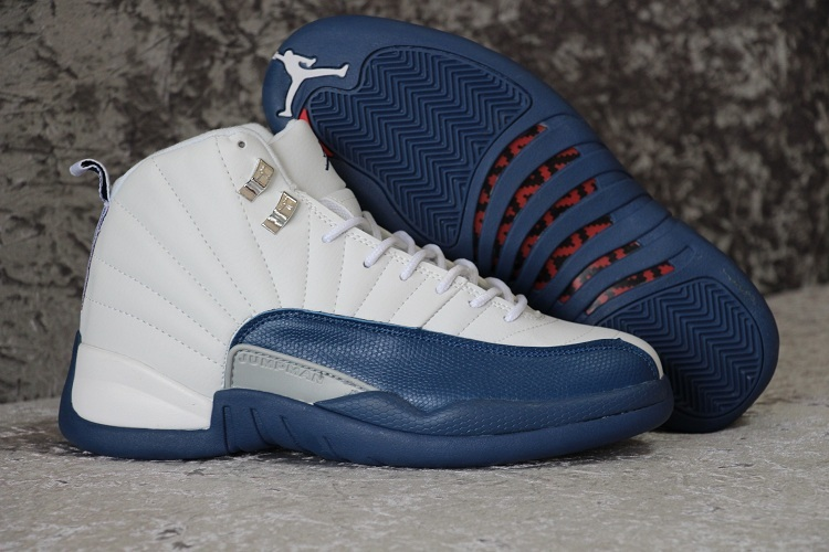 Running weapon Cheap Air Jordan 12 French Blue Shoes Retro Women