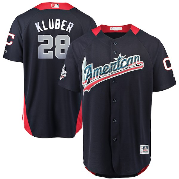 American League #28 Corey Kluber Navy 2018 MLB All-Star Game Home Run Derby Jersey