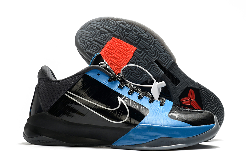 "Men's Running weapon Kobe 5 Protro ""The Dark Knight"" Black/Blue Shoes 008"